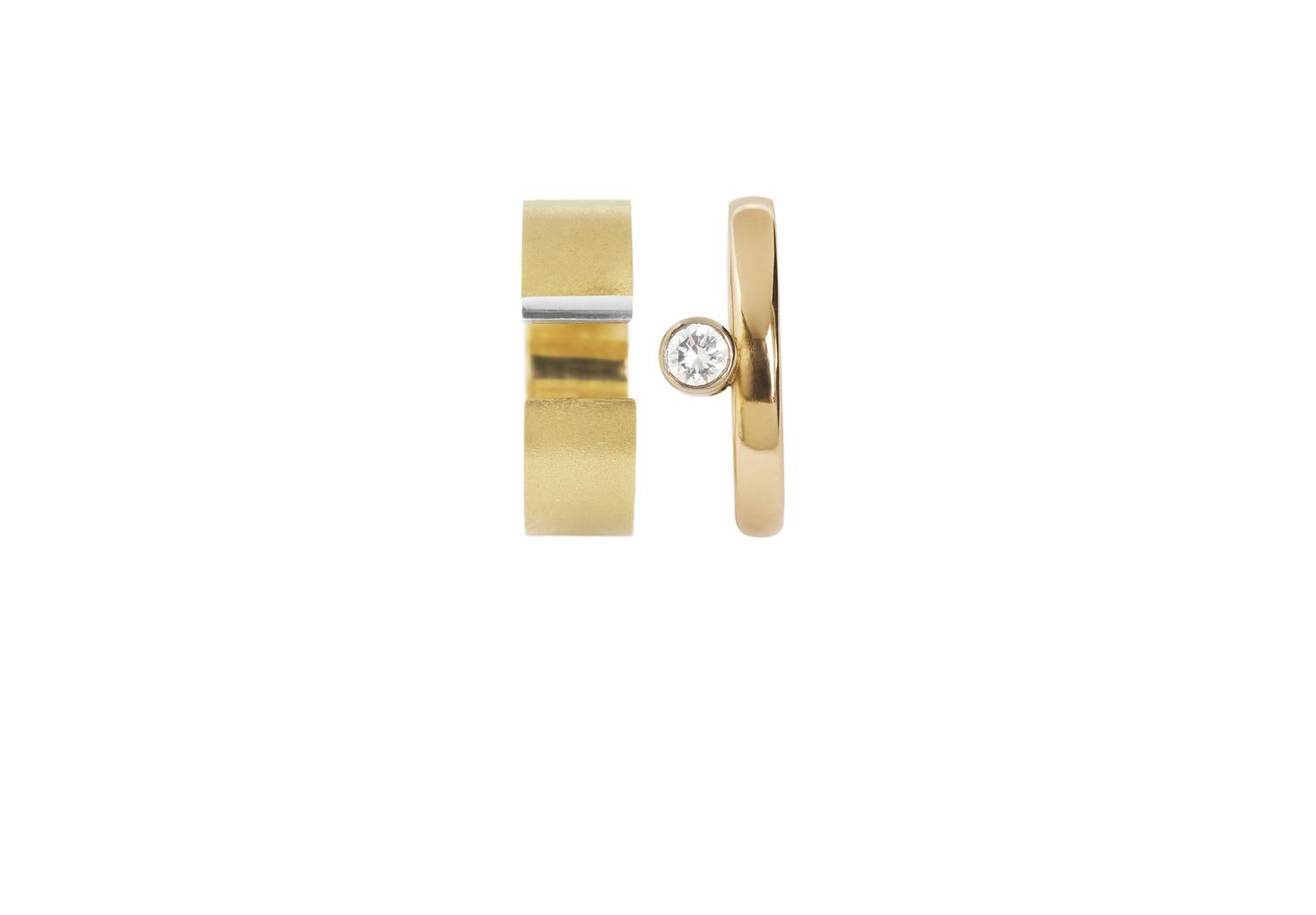 Preva Slide Round Diamond Ring Set
