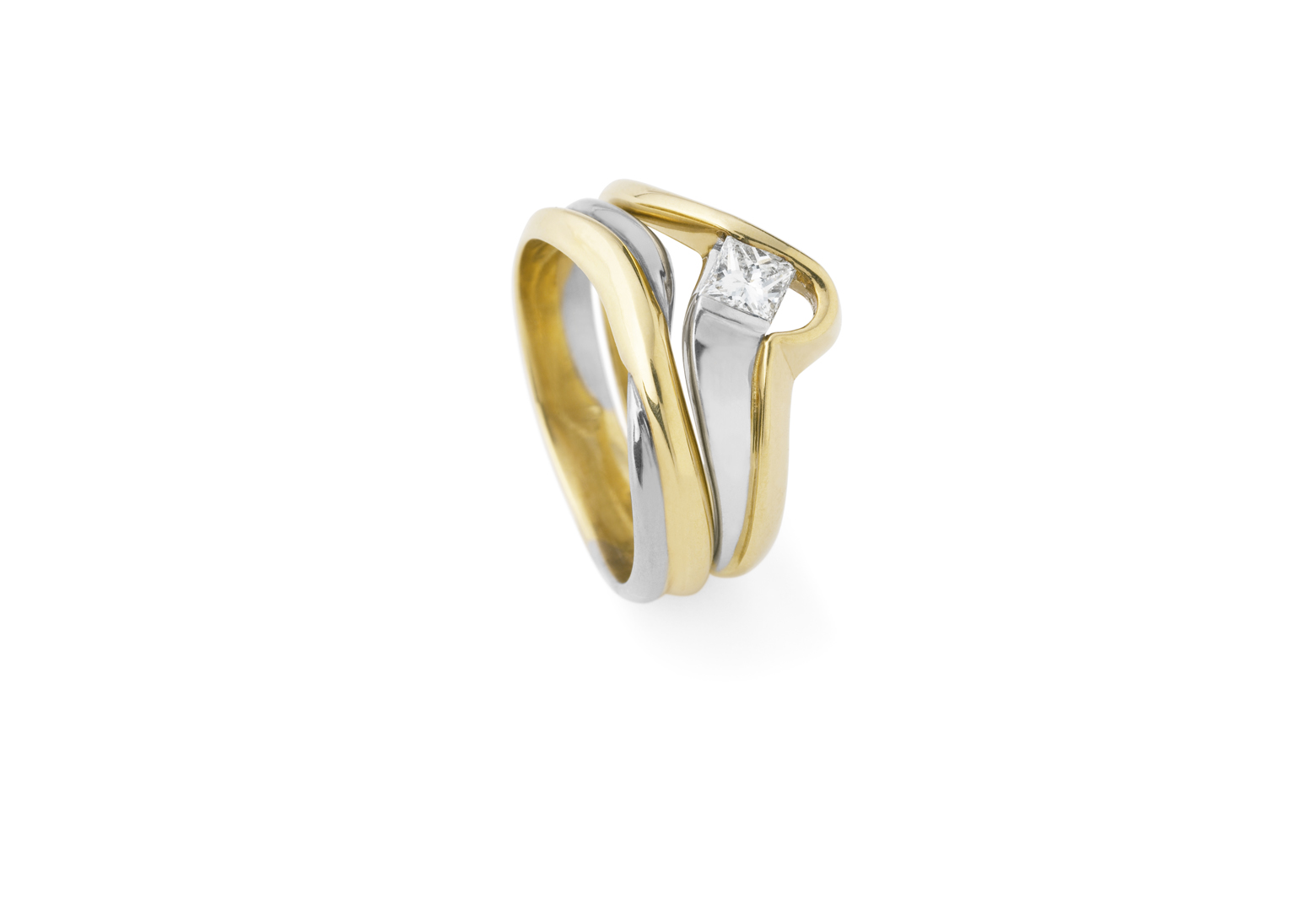 Radiant Solitaire Diamond Ring