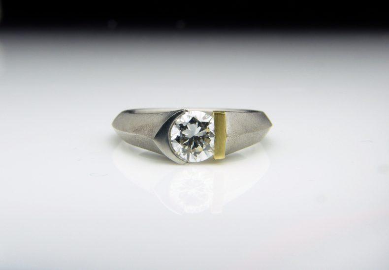 Eros Platinum, 18ct Gold & Diamond Ring