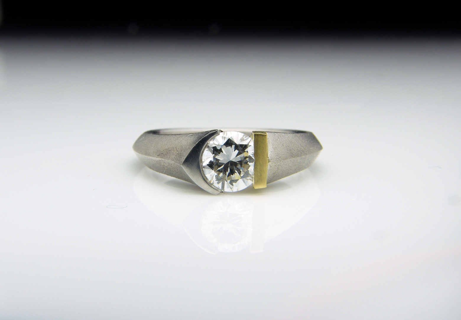 Eros Platinum, 18ct Gold & Diamond Ring