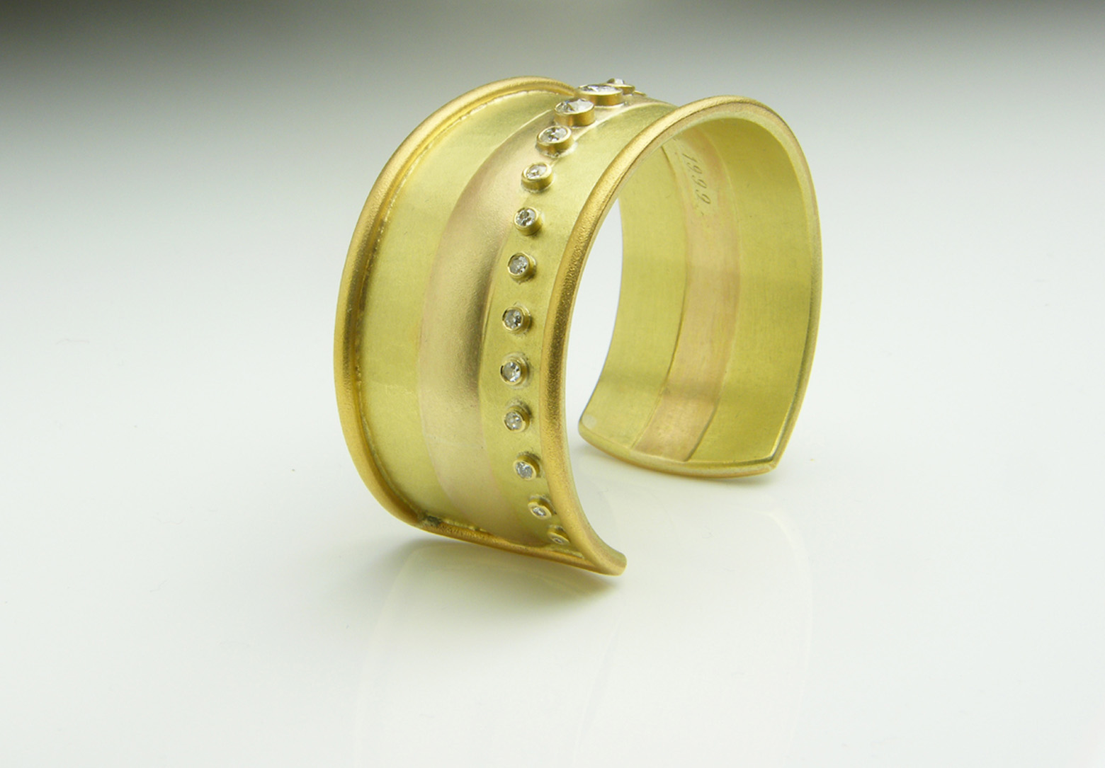 Yellow Gold & Diamond Cuff