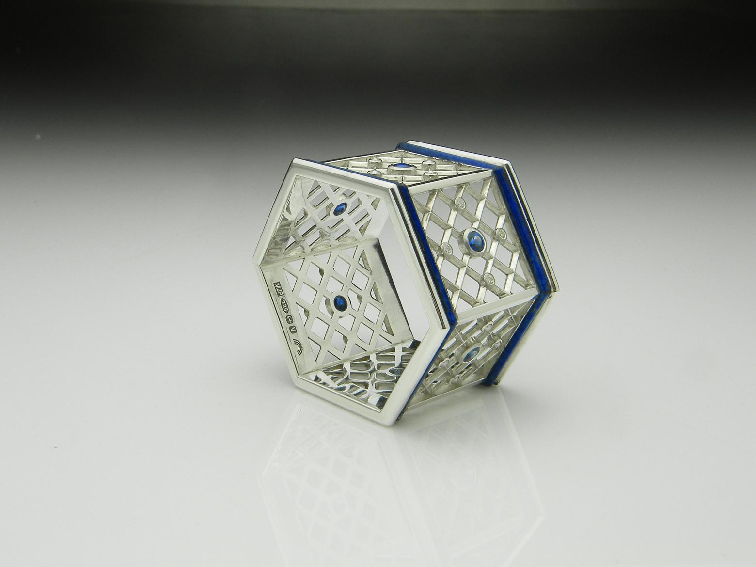 Silver, Sapphire, Napkin Ring